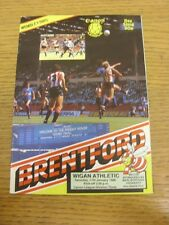11/01/1986 Brentford v Wigan Athletic  . Thanks for viewing this item, buy in co