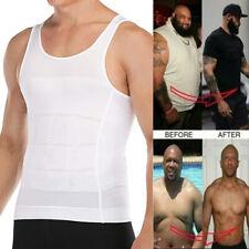 US Men Slimming Body Shaper Posture Corrector Vest Abdomen Compression Tank Tops