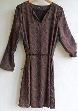 AKOZ de Toi H379 Robe noir motifs orange beige Taille XL