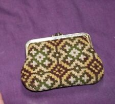 Vintage 80's Welsh Tapestry Purse. Wool Well Made Great Condition