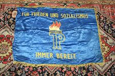 RIESIGE DDR Fahne Stendal Baumwolle Pionier 110x180 Wladimir Komarov Magdeburg