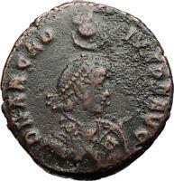 ARCADIUS Authentic Ancient 383AD Constantinople Original Roman Coin i71235