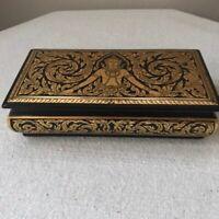 Thailand Gold Handpainted Buddha Carved Wood Box