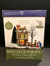Dept 56 - Dickens Village - Victorian Family Christmas House - 58717 - Mib