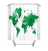Bathroom waterproof vynil fabric shower curtain clear world map bath 72watercolor world map waterproof fabric polyester shower curtain bathroom mat gumiabroncs Images