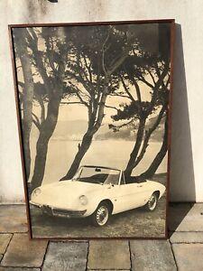 Original ALFA ROMEO DUETTO Spider Sign Service Vintage 1960s Dealership Garage