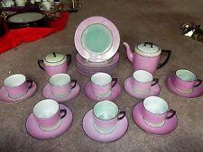 26pc China luncheon Tea Set PINK Royal Innsbruck Vienna Union T Czechoslovakia