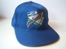 Vintage Seattle Seahawks NFL Football Hat Blue Snapback Baseball Cap