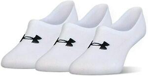 3 Pair Under Armour Women's Ultra No Show Footie Training Socks  Medium