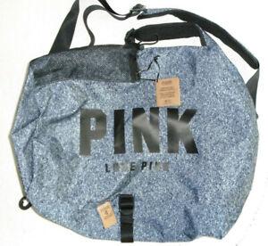 Victoria's Secret Pink Love Pink Convertible Campus Duffel Bag NEW