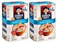2-PK Quaker Oats Quick 1-Minute Oatmeal Healthy Benefits Recipes Naturally 10 lb