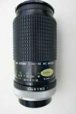 CANON-FD fitting 80-200mm/f4.5 Prinzflex manual focus zoom lens + filter