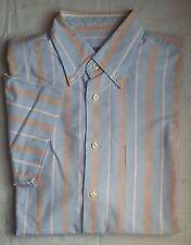 Gestreifte klassische Van Laack Kurzarm Herrenhemden mit Button-Down-Kragen