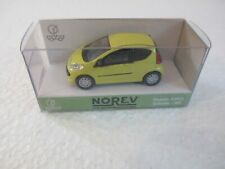 1x Norev Peugeot 107 gelb selten rare Modell Auto HO 1:87 neu OVP
