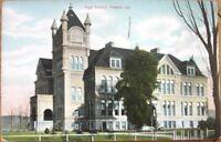 1910 Postcard: 'High School - Fresno, California CA Cal'