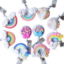 Cartoon Lollipop Rainbow Retractable Badge Holders Reel Card Clip ID Badge Tag