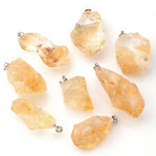 Natural Gemstone Crystal Quartz Healing Point Chakra Beads Pendant For Necklace