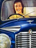 VAUXHALL AUTOMOBILE CAR LUTON UK SMILE VINTAGE RETRO ADVERTISING POSTER 1562PY