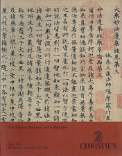 CHRISTIE'S CHINESE PAINTINGS CALLIGRAPHY Lin Fengmian Wen Zhengming Catalog 1990