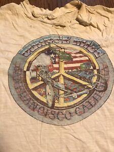 Vtg Purple Haze SF Vietnam Peace Torn Stain Faded Distressed USA Sz XL Shirt