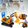 Kids Excavator Toy Large Construction Excavator Digger  Safety Backrest Ride On
