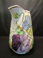 """6"""" Pitcher Blue Ridge Southern Pottery Flowers Floral"""