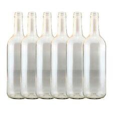 Clear Wine  bottles 750ml x 6  Homebrew Wine making FREEPOST UK