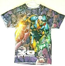 X-O Manowar Surrounded Valiant 2 Sided Sublimated Graphic Print Medium T-Shirt