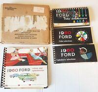 1960 FORD Dealer Salesman Album SHOWROOM Color & Upholstery Original w BOX