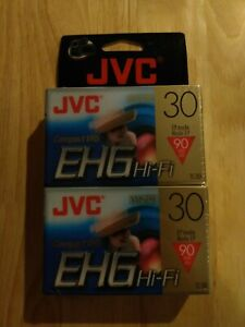 NEW! Lot of 2 JVC VHS-C EHG Hi-Fi TC-30 Camcorder Tapes - TC-30EHGDU