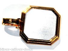 Pendentif plaqué or 18 carats plaque d'acier bijou pendant A4