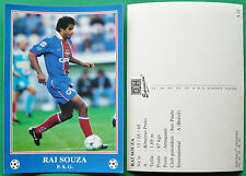 RARE FOOTBALL CPA FRANCE 1996-1997 PARIS SAINT-GERMAIN PSG RAI SOUZA