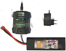 KIT LIPO SET 5000 MAH 7,2V PER MACCHINA RC BUGGY MOTOSCAFO BARCA AUTO MONSTER
