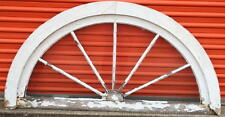 ANTIQUE VINTAGE TRANSOM WINDOW  / FAN WINDOW WITH WAVY GLASS