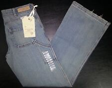 Abercrombie & Fitch Distressed Jeans Sz 2 28x31 Blue Slouch Flare NWT p2798