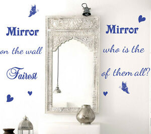 Wall Sticker Quotes Mirror Mirror on Wall Vinyl Sticker Wall Decal HIGH QUALITY