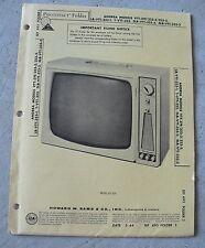 Vintage 1964 Booklet - Howard Sams Television Service Andrea Model VTT-319
