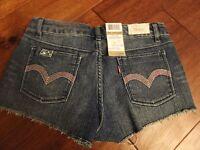 $36 Girls 16 Levis Levi's Denim Shorts Adjustable Waistband Denim Cut Off Jeans