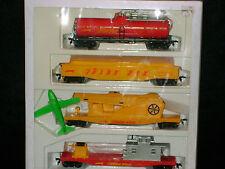 AHM FIREFOX FIRE FIGHTING *SET* RARE * TANKER * HOSE CAR * HO Scale Trains*MINT*
