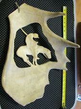 Moose Antler Horn Carving Cut Out End Of Trail Horse Native Rider Rj Thill 1987