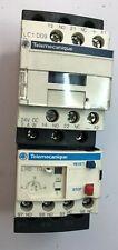 TELEMECANIQUE LC1D09BL CONTACTOR 24VDC W/ LRD10 OVERLOAD RELAY 600VAC