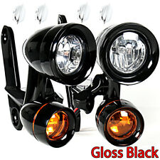 Fairing Mounted Driving Lights Turn Signals For Harley Street Glide 2006-2013