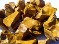 GOLD JASPER Rough Rocks - 1 Lb Lots - Tumbling, Crafts, Cabbing, Lapidary