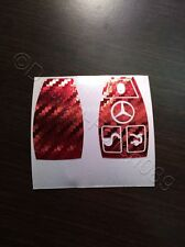 Charbon chrome rouge protection décor clé MERCEDES C E brabus W204 CLK W209 W