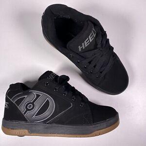Heelys Propel 2.0 Black / Gold Skate Shoes Size Youth 5 No Key No Plugs EUC