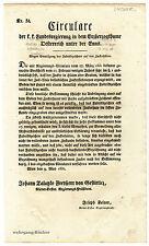 K.u.K. Circular, Verordnung, Mai 1832, Kennzeichnung von Zuckerhüten