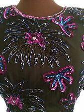 Vintage Stenay Dress Beaded Cocktail/Formal Sz. 8 Absolutely Stunning! Ex. Cond.