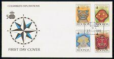 REDONDA FDC 1989 COVER COLUMBUS EXPLORATIONS