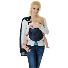 Brand Baby Ring Sling Carrier Pouch Wrap Newborn To Toddler 5 Position Dark Blue