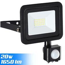 Faro LED 20W Luce Alta Luminosità 1650 lm Faretto esterno con Sensore Movimento